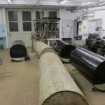 Tonnen in Werkstatt
